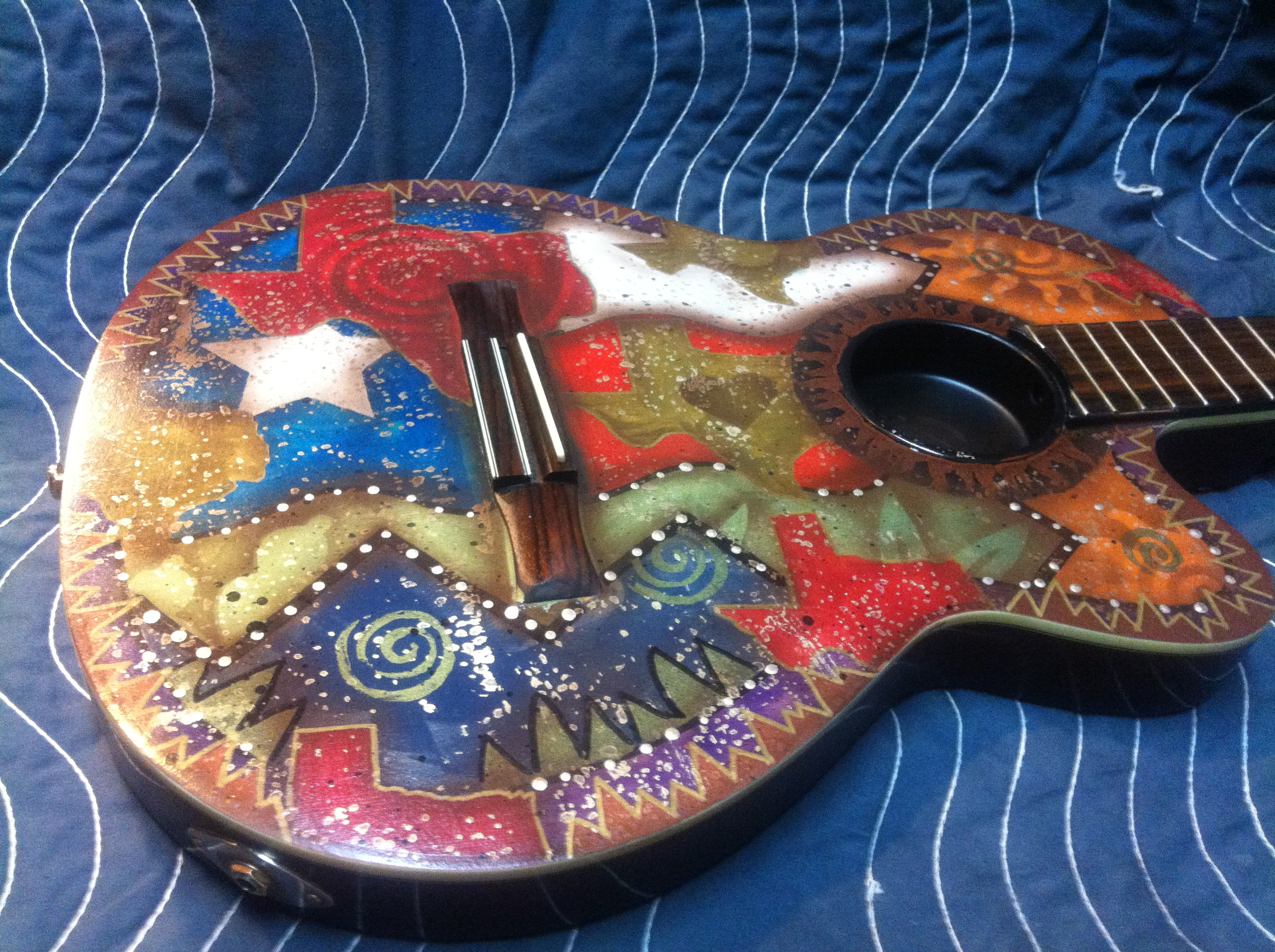 Tommy Alverson's custom painted guitar.